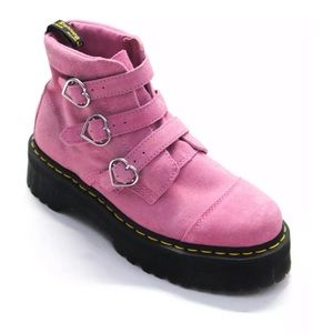 LAZY OAF X DR MARTENS COLLAB BUCKLE BOOT SUEDE